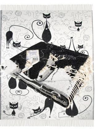 Плед хлопковый ярослав коты размер 140х200 см