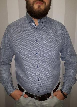 Стильная мужская рубашка j.t.ascott в идеальном состоянии