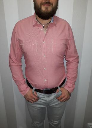 Стильная мужская рубашка we в идеальном состоянии