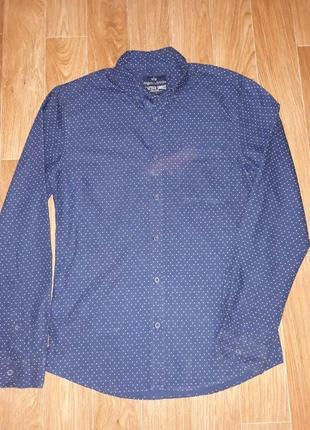 Стильная мужская рубашка angelo litrico в идеальном состоянии