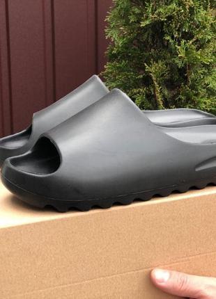 Тапки мужские adidas черные / тапочки жіночі шлепки адидас адідас