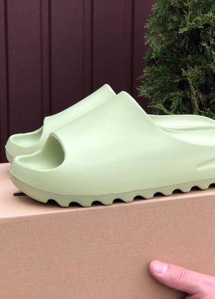 Тапки женские adidas салатовые / тапочки жіночі шлепки адидас...