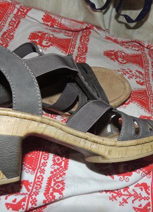 Качественные босоножки женские для комфорта ног от rieker 41-42