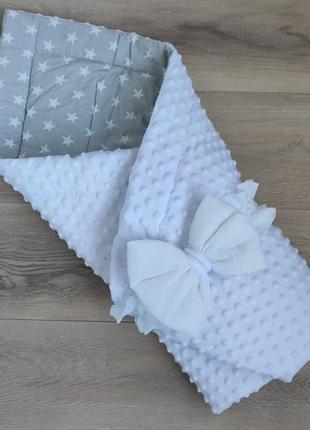 Конверт на выписку для новорожденных красивый конверт одеялко
