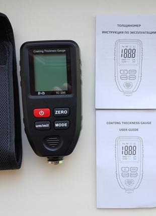 Толщиномер R&D TC100 тестер краски от 0 мкм до 1,3 мм