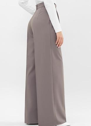 Серые широкие брюки-палаццо