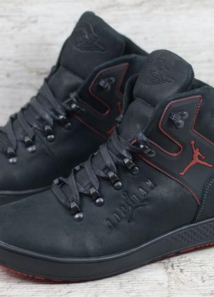 Мужские кожаные зимние ботинки Jordan