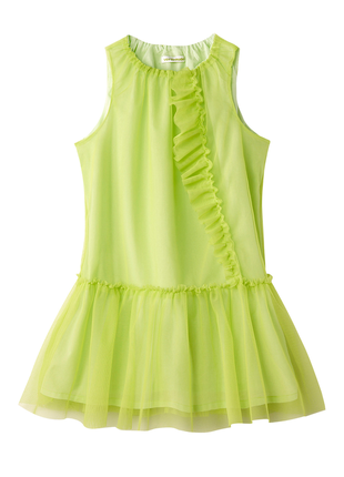 Платье тюль в фисташковом цвете