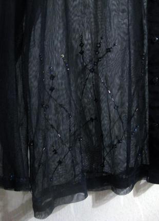 Накидка рубашка французского бренда urban kiabi сетка чёрная в...