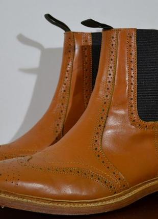 Крутые ботинки, челси броги barbour chelsea brogue boots