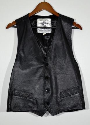 Кожаная жилетка rb leather vest