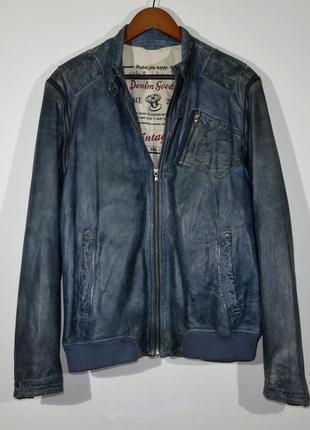 Кожанка nils sundsrtom denim goods leather jacket