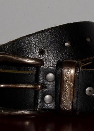 Ремень кожаный wrangler vintage leather
