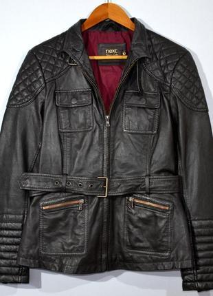 Кожаная куртка next women leather moto jacket