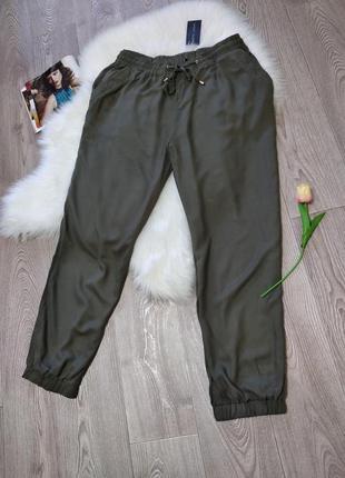 Женские свободные штаны из вискозы на резинке new look