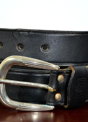 Ремень кожаный levi's 501 vintage leather belt