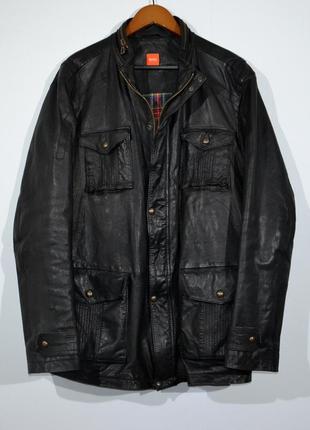 Куртка кожаная hugo boss leather m65 jacket