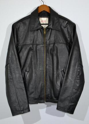 Куртка кожаная jack and jones leather harington jacket