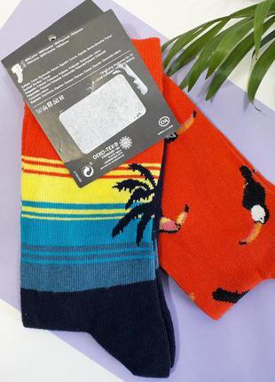 Набор носков 2 пары носки хлопковые мужские яркие стильные р.4...