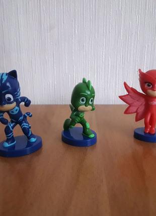 Набор фигурок герои в масках PJ Masks Мини герои. 3 штуки.