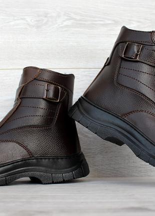 Мужские зимние классические высокие ботинки на молнии