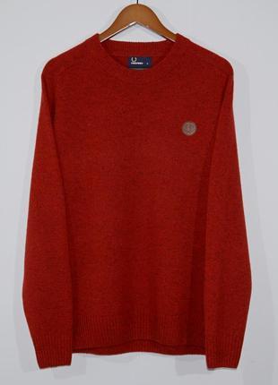 Шерстяной свитер fred perry jumper