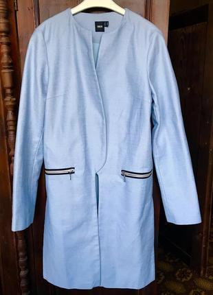 Голубое летнее пальто без застёжки Asos