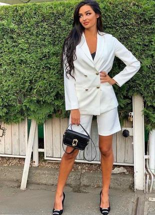 Костюм женский бермуды шорты пиджак люкс