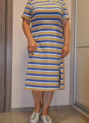 Платье миди в полоску primark