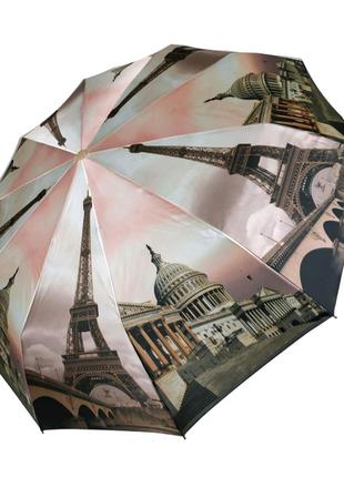 Женской зонты флагман с принтером ночного города.