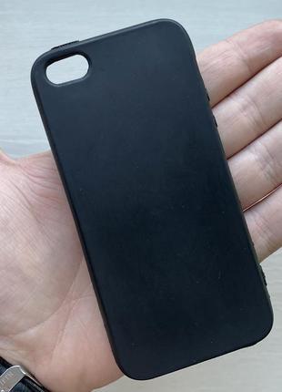 Чехол черный чохол на для айфон iphone 4 силиконовый
