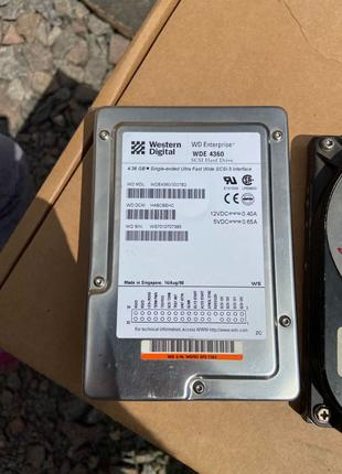 SCSI HDD Seagate 9gb,WD 4gb,Conner 0,5gb винчестеры жесткие диски