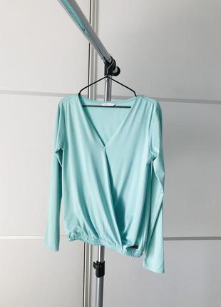 Блузка, кофта, свитер, бирюзовая блуза.