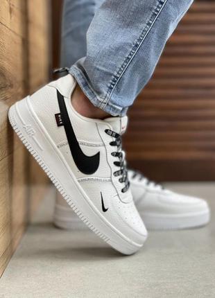 Мужские кроссовки nike air force 1 worldwide all white/ black