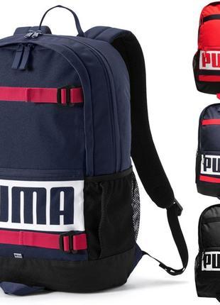 Рюкзак Puma Deck Navy Red 24l Оригинал городской спортивный