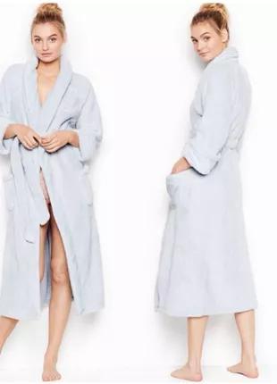 Плюшевый длинный халат victoria's secret оригинал махровый тёплый