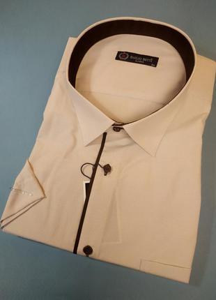 Рубашки классические с коротким рукавом больших размеров,  ог-...