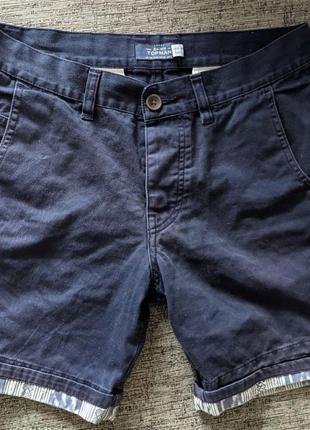 Мужские синие шорты topman