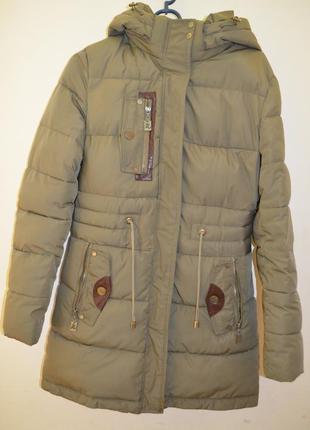 Женская зимняя курточка парка размер м meajateer