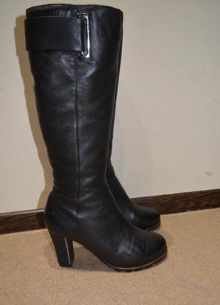 Зимние сапоги 37 размер respect кожаные 24 см стелька