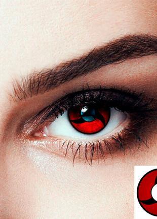 Линзы контактные цветные Мангёку Шаринган