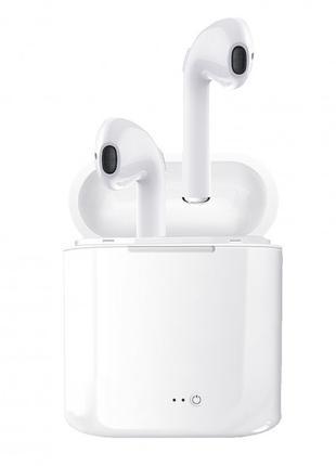 Беспроводные Bluetooth наушники I7S PRO Белые