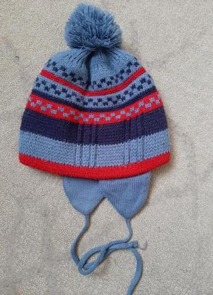 Зимняя шапочка на мальчика 3-5 лет