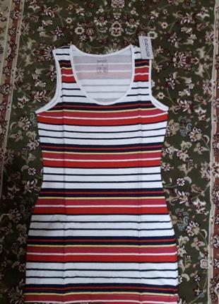 Удлиненная майка туника футболка платье сарафан топ esmara гер...