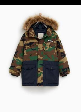 В наличии удлиненная куртка парка zara 152и 164