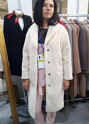 Женское пальто season альпака молочного цвета