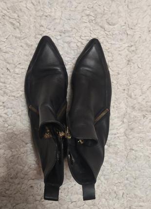 Кожание ботинки полусапоги кожа zign
