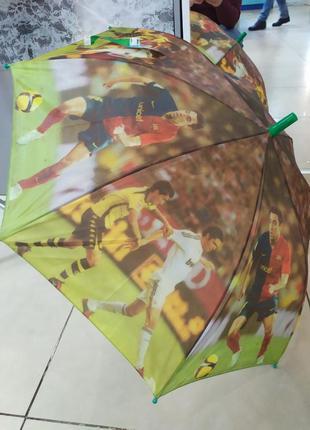 Зонт,зонт трость для мальчика- футбол