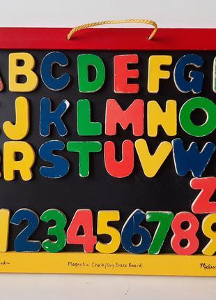 Доска магнитная с алфавитом и для доска рисования MD145 Melissa&D