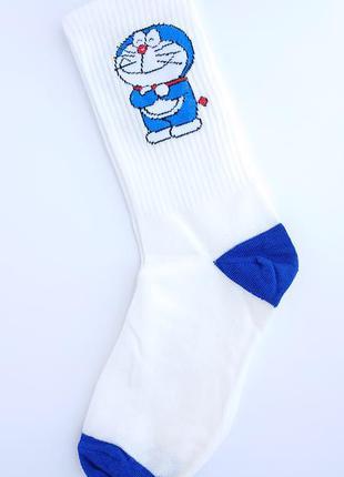 Белые женские носки, высокие женские носки с резинкой, носки с...